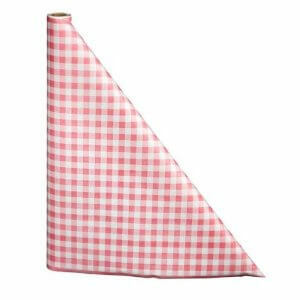 "40"" x 300'  Paper Table Cover (1 roll) - Red / White Gingham"