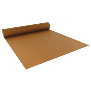 "40"" x 300'  Paper Table Cover (1 roll) - Plain Brown Kraft"