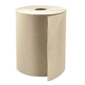 """8"""" x 800' Boardwalk Natural Roll Towels (6 rolls)"""