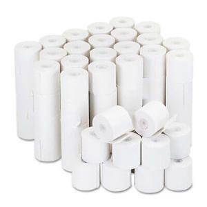 "2 1/4"" x 126' Adding Machine/Calculator Paper Rolls; 16#; 1/2"" Core; 100 rolls/carton - White"