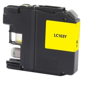 Brother LC103Y Compatible Inkjet Cartridge (600 page yield) - Yellow