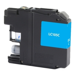 Brother LC105C Compatible Inkjet Cartridge (1200 page yield) - Cyan