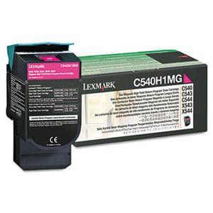 Lexmark C540H1MG High-Yield Toner, 2000 Page-Yield, Magenta