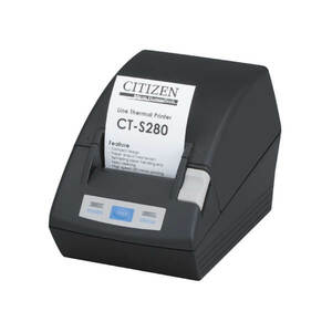 Citizen CT-S280, Thermal POS Printer, 58mm, 80 mm/Sec, 32-48 col, Serial, Black
