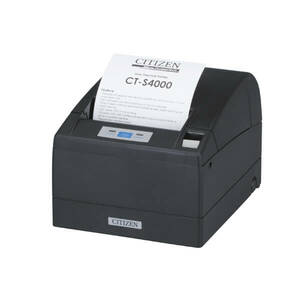 Citizen CT-S4000, Thermal POS Printer, 112mm, 150 mm/Sec, 69 col, Seh Ethernet & USB, Black Mark Sensor
