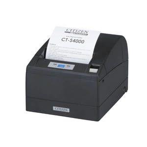 Citizen CT-S4000, Thermal POS Printer, 112mm, 150 mm/Sec, 69 col, Seh Ethernet & USB, Black Mark Sensor