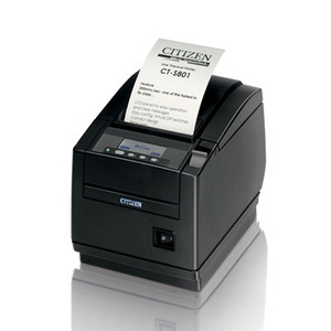 Citizen CT-S801, Thermal POS Printer, 300mm, Ethernet I/F, Black, PNE Sensor