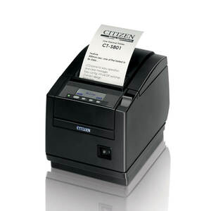 Citizen CT-S801, Thermal POS Printer, 300mm, Serial I/F, Black, PNE Sensor