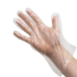 Clear Polyethylene Food Handling Gloves, Small  (1,000ct)