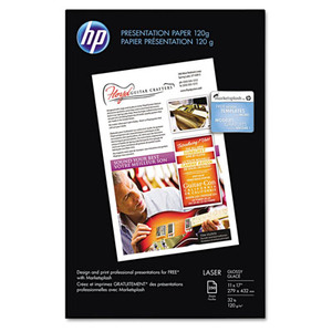 HP Color Laser Presentation Paper 97 Brightness 32lb 11 x 17 White 250/Pack