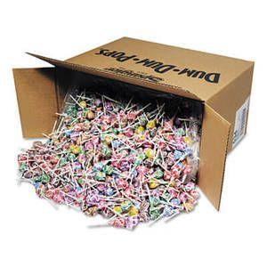 Spangler Dum-Dum-Pops, Assorted Flavors, Individually Wrapped, Bulk 30lb Box