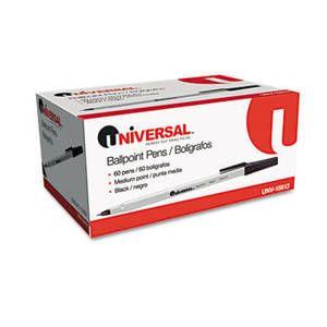 Economy Ballpoint Stick Oil-Based Pen, Black Ink, Medium, 60 per Pack