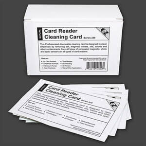 Fare Box / Ticket Reader Cleaning Cards CR80 (50 / Box)