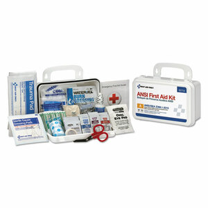 First Aid Kit for 10 People, 71 Pieces, Plastic Case