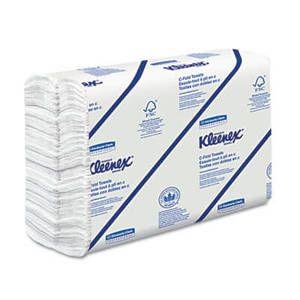 Kleenex C-Fold Paper Towels, 10 1/8 x 13 3/20, White, 150/Pack, 16/Carton