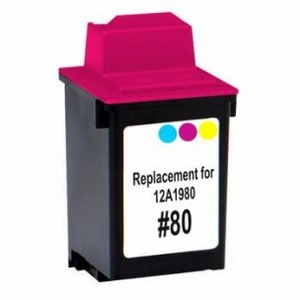 Lexmark 12A1980 #80 Compatible Inkjet Cartridge (275 page yield) - Color