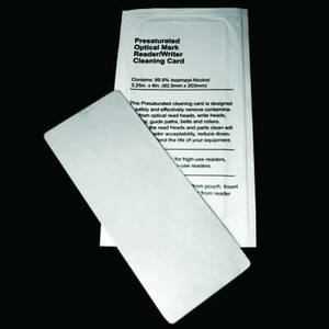 Lottery Ticket Validator/Optical Mark Reader Cleaning Cards (25 / Box)  <font color=red>*Clearance Item*</font>