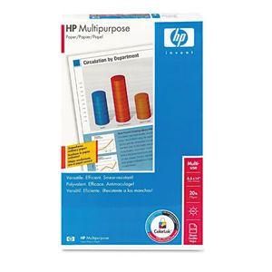 HP Multipurpose Paper, 96 Brightness, 20lb, 8-1/2 x 14, White, 500 Sheets/Ream