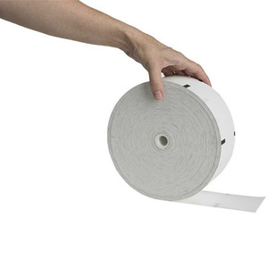 """NCR Persona Series  3 1/8"""" x 1960'  ATM Thermal Receipt Paper  (4 rolls/case) - 4.4"""" Repeat Sensemark Outside"""