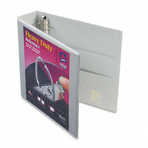 "Nonstick Heavy-Duty EZD Reference View Binder, 2"" Capacity, Gray"