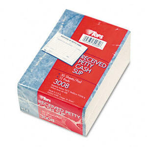 Received of Petty Cash Slips, 3-1/2 x 5, 50/Pad, 12/Pack