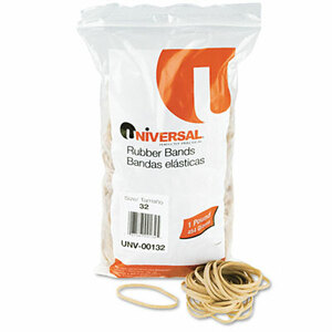 Rubber Bands, Size 32, 3 x 1/8, 820 Bands/1lb Pack