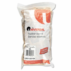 Rubber Bands, Size 64, 3-1.2 x 1/4, 320 Bands/1lb Pack