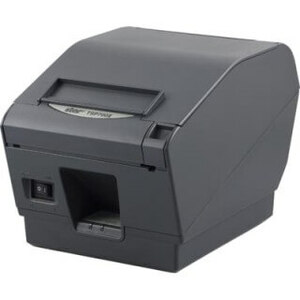 Star Micronics TSP743IIpu-24 Gry Pusb Cb, Thermal, Friction, Printer, Cutter, USB, Gray, Powered USB Cable