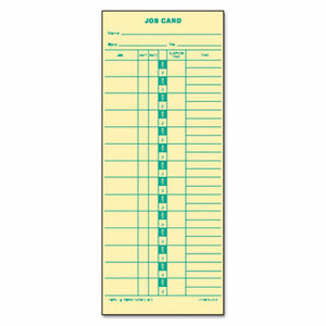 Tops Time Card for Cincinnati, Lathem, Simplex, Job Card, 1-Sided, 3-1/2 x 9, 500/Box