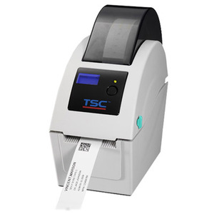 "TSC TDP-225W direct thermal wristband printer, 203 dpi, 5 ips, 6.5"" OD, includes LCD display, Ethernet, USB & USB Host Interface for Scanner or Keyboard"
