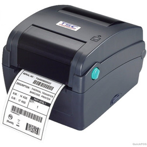 TSC TTP-245C Thermal Transfer Printer, 203 dpi, 6 ips (navy) with 4 ports - Ethernet, USB, Parallel, Serial with factory installed full cutter