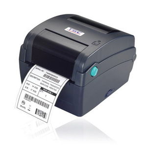 TSC TTP-343C Thermal Transfer Printer, 300 dpi, 4 ips (navy) with 4 ports - Ethernet, USB, Parallel, Serial with factory installed cutter