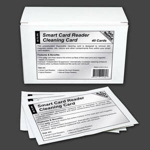 Waffletechnology Smart Card Reader Cleaning Cards (40 / Box)