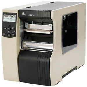 "Zebra 140Xi4 Industrial Label Printer - 5.04"" Print Width, 203 DPI, Rewind with Peel, 802.11 B/G"