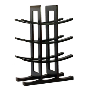 12 Bottle Bamboo Wine Rack - Dark Espresso
