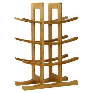 12 Bottle Bamboo Wine Rack - Natural