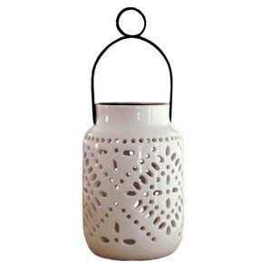 2 Pack Tangier Solar Ceramic Lantern