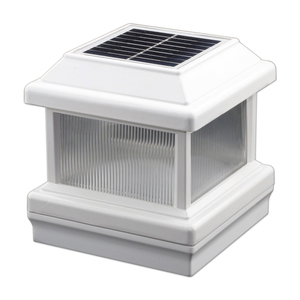 Aluminum Solar Post Cap Light with Lens for 5 inch Posts IP 68-Fully Waterproofed