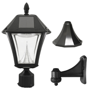 Gama Sonic Baytown II Solar Lamp Warm White - 3 Mounting Options