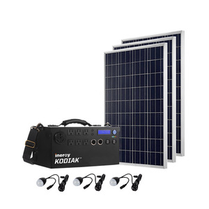 Kodiak Lightweight Silver Portable Solar Generator Kit