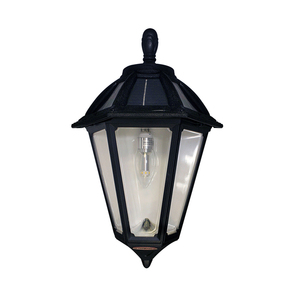 Polaris Sconce Solar Lamp in Classic Black Finish