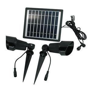 Premium Dual Solar Spotlight Kit with Dual Heads & Wireless Remote