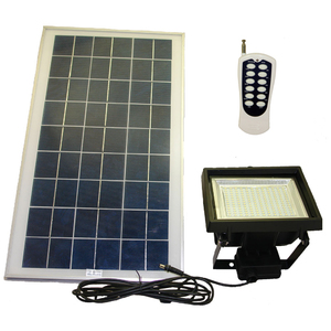 156 SMD LED Solar Flood Light With Remote Control & Timer - Wall Mount & Ground Stake