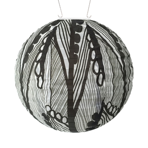 Soji Black and White Seed Leaf Solar Lantern