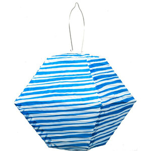 Soji LED Solar Lantern - Blue Stripe Rhombus Limited Edition