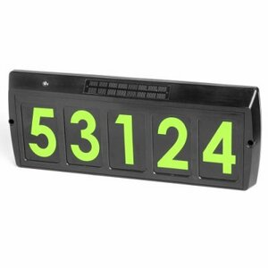 Solar Address Light - Green Numbers