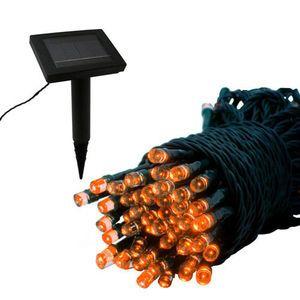 Solar Light Strand - 100 LED - Orange