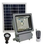 FL3W LED Solar Flood Light with Remote Control, SMD LED, Lithium Ion Battery and PIR Motion Features