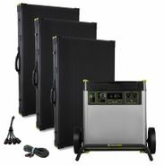 Goal Zero Yeti 6000X Solar Generator Kit with (3) Boulder 200 Briefcase Solar Panels