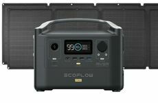 EcoFlow River Pro Portable Solar Generator Kit - With (2) 110 Watt Solar Panels